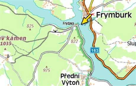 mapa - nehoda na Lipně