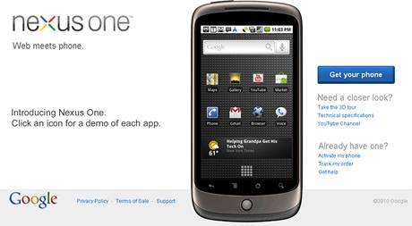 Google Nexus One si může koupit kdokoli