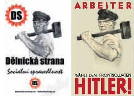 Letáky Dělnické strany a NSDAP
