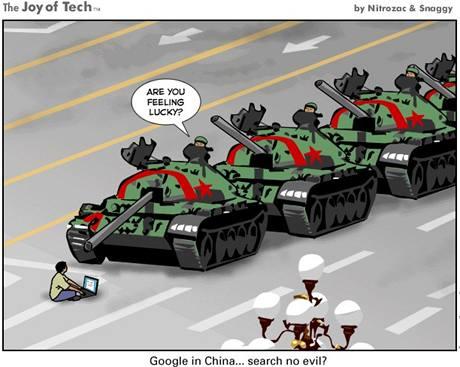Joy Of Tech - narážka na Google v Číně
