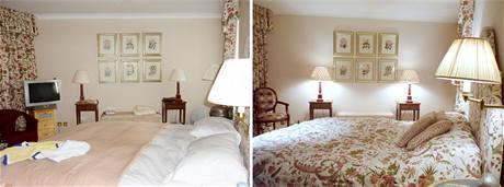 Ložnice před a po úpravě