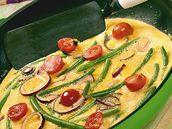 Omeleta s fazolkami.