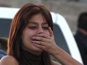 Místo činu v Tijuaně, kde byli zabili tři mladí lidé (3. ledna 2010)