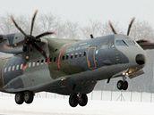 Dopravní letoun C-295M Casa v Praze