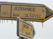 Sněhová kalamita v Senetářově na Moravě. (17. ledna 2009)