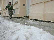 Neudržované chodníky v Brně (Křídlovická ulice 12. ledna)