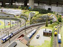 Na výstavě modelové železnice v Království železnic v Praze byla otevřena část znázorňující model Ústeckého kraje.