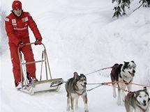 Fernando Alonso v italském zimním středisku Madonna Di Campiglio