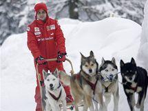 Felipe Massa v italském zimním středisku Madonna Di Campiglio