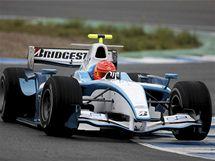 Michael Schumacher testuje v Jerezu vůz GP2