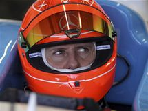 Michael Schumacher v Jerezu, kde testoval vůz GP2