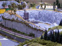 Ústecký kraj v podobě modelové železnice v pražském Království železnic - Mariánská skála.