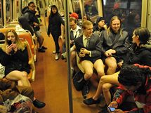 Den bez kalhot ve washingtonském metru