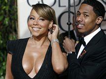 Zlaté glóby 2010 - Mariah Carey a Nick Cannon