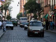 Mexico City. Jízda taxi není v hlavním městě Mexika příliš bezpečná