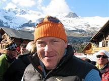 Švýcarsko, Čtyři údolí, Verbier. Didier Chuche při Verbier High Five