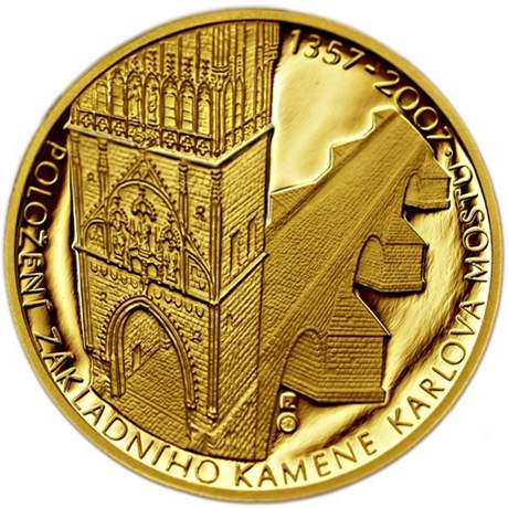 Zlatá mince - Karlův Most