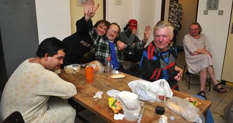 Brněnští bezdomovci v Krizovém centru na Vídeňské ulici