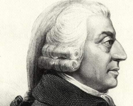 Adam Smith (1723-1790), skotský ekonom a filozof, zakladatel moderní ekonomie.