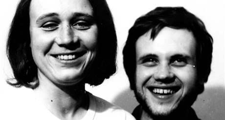 Anna a Jan Šabatovi v roce 1974 po návratu z vězení