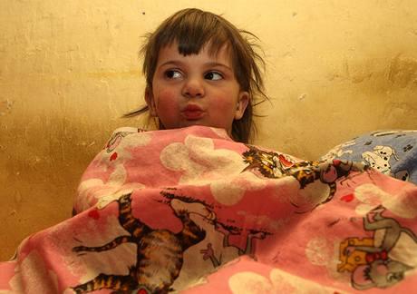 Tříletá Pavlínka, vnučka Andreje Kocura, o níž se po letech přihlásila její matka (25. ledna 2010)