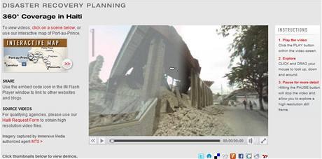 Immersive Media a jejich projekt interaktivních panoramatických videí ze zemětřesením postiženého Haiti