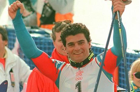 Alberto Tomba v Calgary 1988