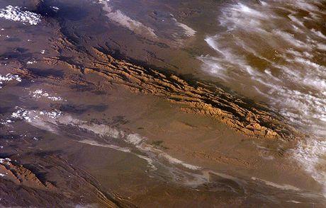 Dasht-e Lút, Írán - pohled z vesmírné stanice ISS
