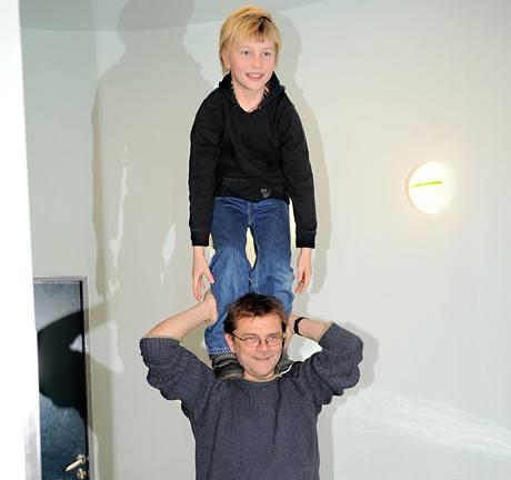 Roman Štolpa s dětmi