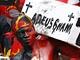 Fanoušci Angoly při utkání s Ghanou