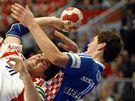 Chorvatsko - Rusko: Michail Čipurin (uprostřed) a Jakov Gojun (vpravo)