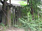 Původní branka k domu v obci Ládví, ve kterém Che Guevara přebýval.
