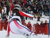 Julien Lizeroux při slalomu SP v Kitzbühelu