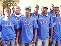 Tým dobrovolníků v Port-au-Prince.