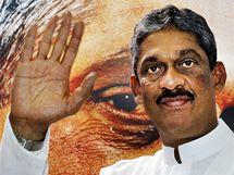 Kandidát do prezidetských voleb na Srí Lance generál Sarath Fonseka. (26. ledna 2010)