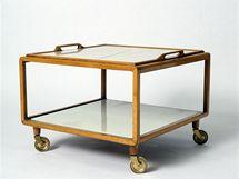 Servírovací stolek do interiéru pro Lisi Pospischil, návrh Walter Loos, 1936
