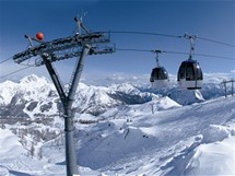 Rakousko, Nassfeld. Millennium-Express je nejdelší kabinová lanovka v Evropě