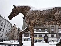 Michal Gabriel: bronzový kůň v dejvicích