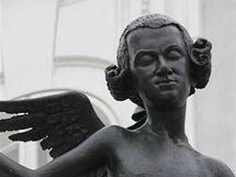 Socha Mozart na Zelném trhu v Brně