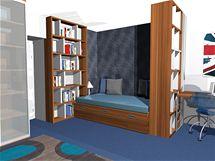 Studentský pokoj pro dva bratry