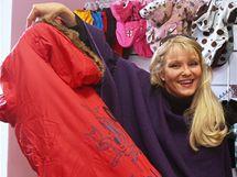 Chantal Poullain Polívková v obchodě pro psy
