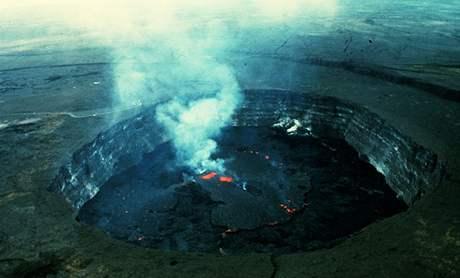 Sopka na Hawayi, květen 1972