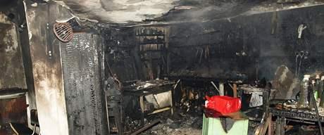 Oheň v Lužicích na Hodonínsku zranil muže a způsobil milionovou škodu