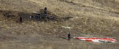 Trosky zřícených letadel byly rozeseté v okruhu několika kilometrů (6. února 2009)
