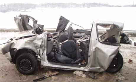 Tragická dopravní nehoda na dálnici u Hladkých Životic