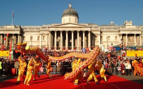 Čínský nový rok v Londýně.