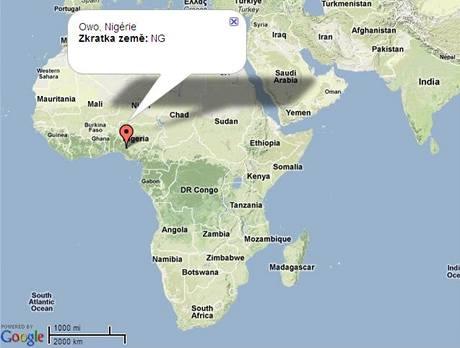 Mapa Owo, Nigérie