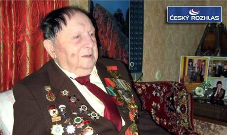Veterán Rudé armády Alexej Vajcen.