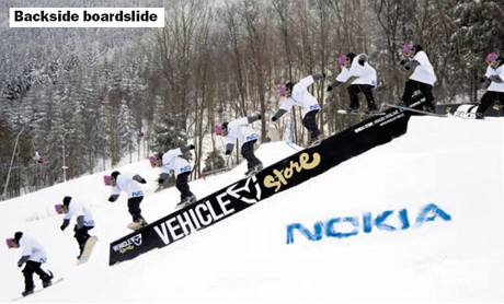 Snowboardová škola: Backside boardslide