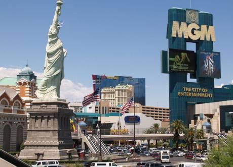 Typické Las Vegas - nic ze symbolů Ameriky tu nechybí